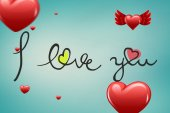Composite image of valentines message — Stock Photo