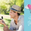 Man surprising his girlfriend with a proposal — Stock Photo #64820071