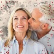 Affectionate man kissing his wife — Stock Photo #64822257