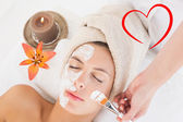 Attractive woman receiving treatment at spa — Stock Photo