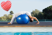 Brunette in cobra pose over exercise — Stock Photo