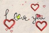 Composite image of valentines message — Foto de Stock