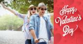 Hip young couple going for a bike ride — Stock Photo