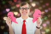 Broken hearted geek — Stock Photo