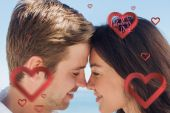 Close up view of romantic couple — Stock Photo