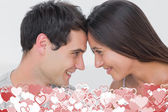 Couple facing each other — Stock Photo