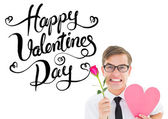 Romantic geeky hipster — Stock Photo