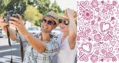 Young hip couple taking a selfie — Foto Stock