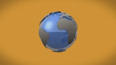 Airplanes flying around earth graphic — Stock Video