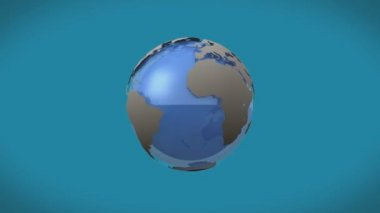 Airplane flying around earth graphic — Stock Video