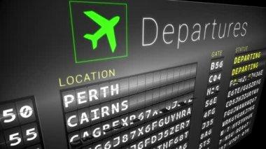Departures board for australian cities — Stock Video