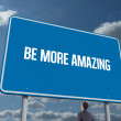 Word be more amazing and businessman — Stock Photo #65232987