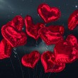 Composite image of heart balloons — Stock Photo #65233633