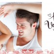 Composite image of cute valentines couple — Stock Photo #65234027