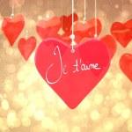 Composite image of valentines love hearts — Stock Photo #65235475