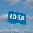 Achieve sign against sky  — Stock Photo #65237467