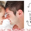 Composite image of cute valentines couple — Stock Photo #65237803