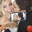 Composite image of valentines couple — Stock Photo #65237819