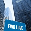 Find love against low angle view of skyscrapers — Stock Photo #65238261