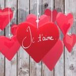 Composite image of valentines love hearts — Stock Photo #65238345