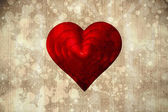 Composite image of red love heart — Stock Photo