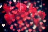 Composite image of love hearts — Stok fotoğraf