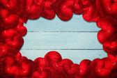 Composite image of red love hearts — Fotografia Stock
