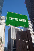 Stay motivated against new york — Stock Photo