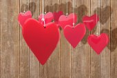 Composite image of love hearts — Stock Photo
