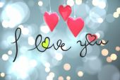 Composite image of i love you — Stock Photo