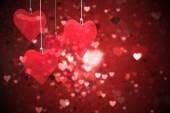 Composite image of love hearts — Φωτογραφία Αρχείου