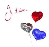 Composite image of valentines love hearts — Stock Photo