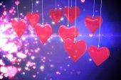 愛の心の合成画像 — ストック写真
