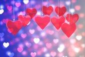 Aşk kalplerin birçok parçalardan oluşan imge — Stok fotoğraf