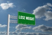 Lose weight against sky and clouds — Стоковое фото