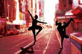Composite image of cool break dancer — Stock Photo