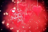 Composite image of happy valentines day — Stock Photo