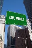 Save money against new york — Stock Photo