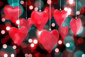 Composite image of love hearts — Zdjęcie stockowe