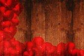 Imagen compuesta de corazones rojos de amor — Foto de Stock