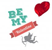 Composite image of be my valentine — Stock Photo