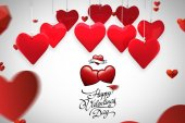 Composite image of valentines day greeting — Stock Photo