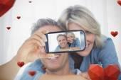 Composite image of valentines couple — Stock fotografie