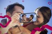 Composite image of valentines couple — Foto de Stock