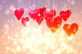 Imagen compuesta de amor corazones — Foto de Stock