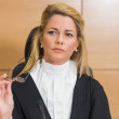 Stern judge looking away — Stock Photo #65279633