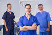 Portrait of smiling co-workers standing — Fotografia Stock