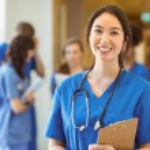 Medical student smiling at the camera — Stock Photo #65281709
