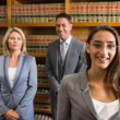 Lawyers reading book in the law library — Stock Photo #65281819