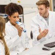 Medical students working together in the lab — Stock Photo #65283343